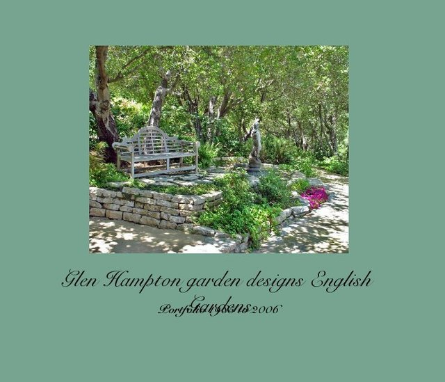 Glen hampton garden designs english gardens blurb books for Garden design amazon