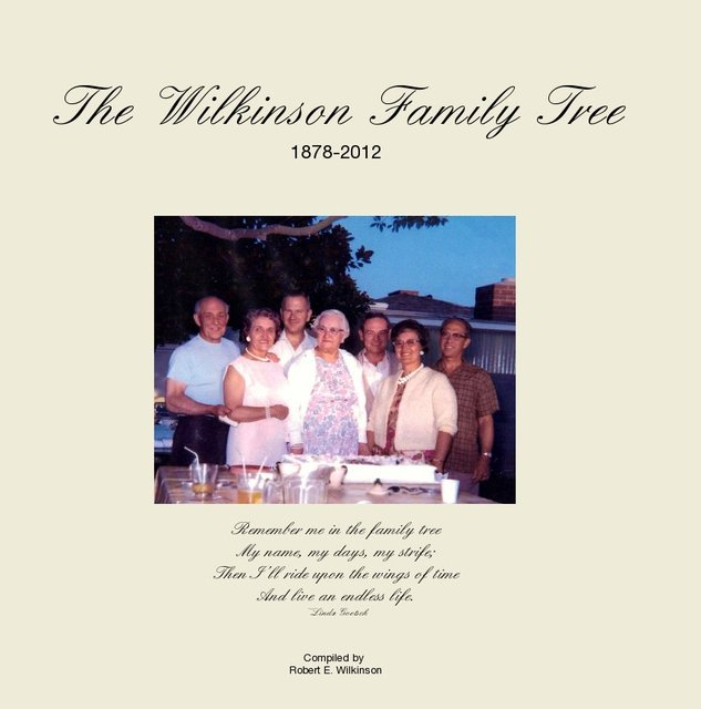 The Wilkinson Family Tree 1878-2012
