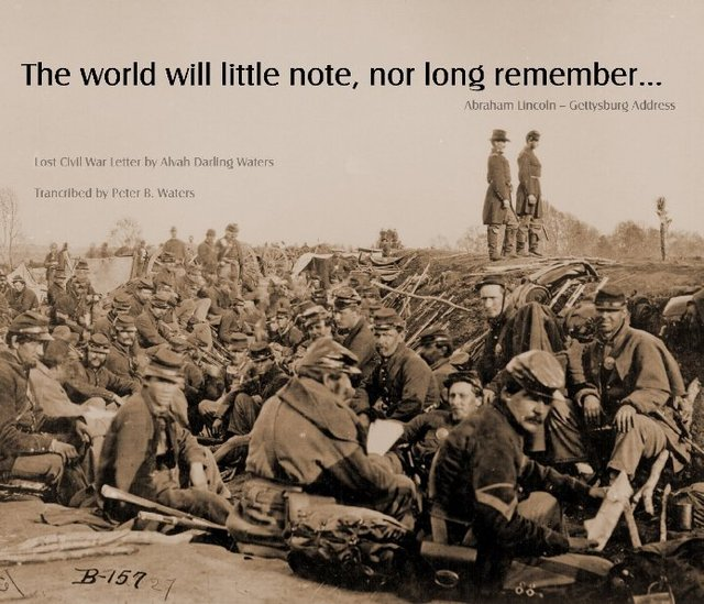 The world will little note nor long remember...