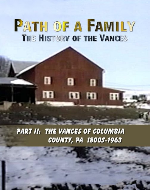 Path of a Family:  The History of the Vances