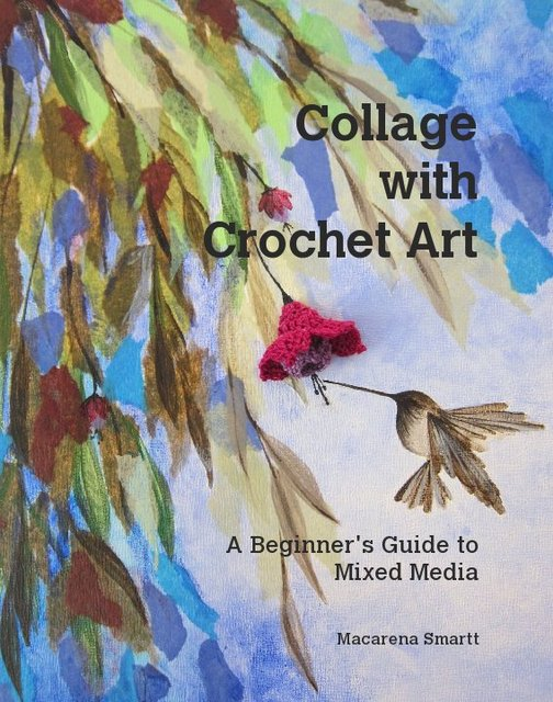 Collage with Crochet Art