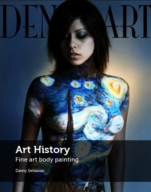 Art History Fine art body painting