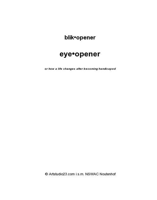 Blik•opener Eye•opener