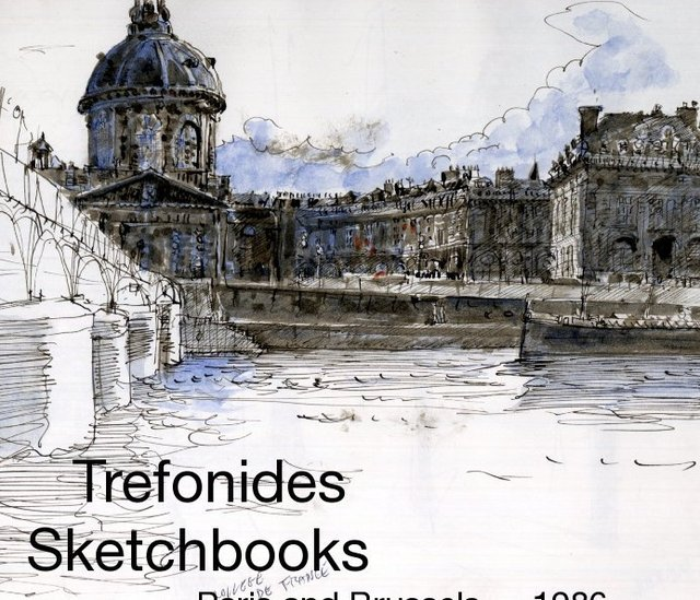 Trefonides Sketchbooks Paris and Brussels — 1986