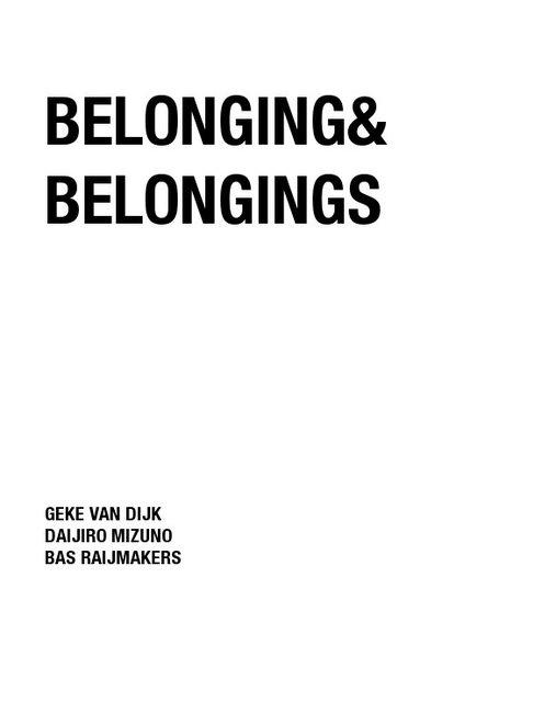 Belonging & Belongings