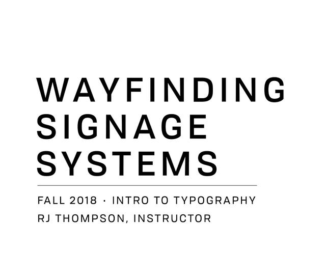 YSU Wayfinding Signage Systems