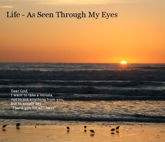 Life - As Seen Through My Eyes