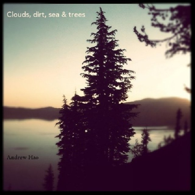 Clouds, dirt, sea &amp; trees