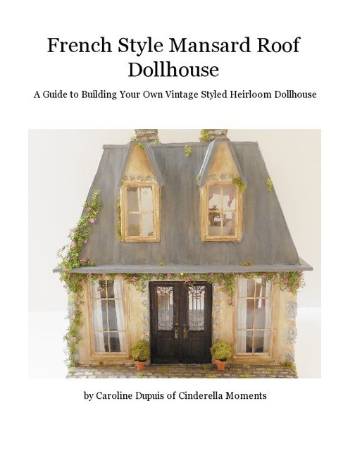 French Style Mansard Roof Dollhouse Blurb Books
