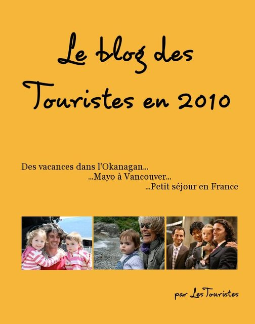 Le blog des Touristes en 2010