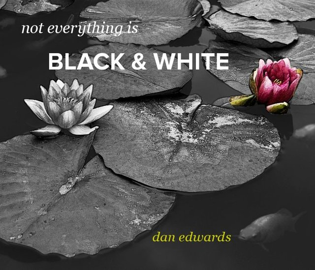 not everything is BLACK &amp; WHITE