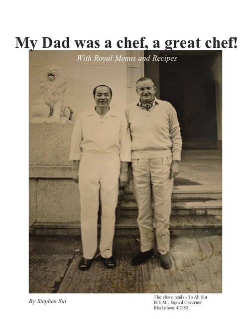 My Dad was a chef, a great chef!