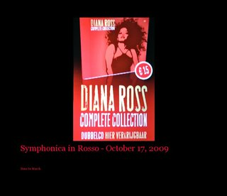 Symphonica in Rosso - October 17, 2009
