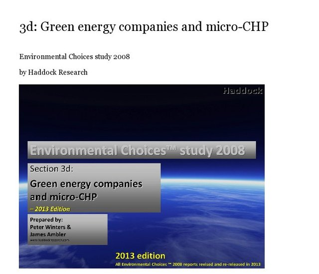 3d: Green energy companies and micro-CHP