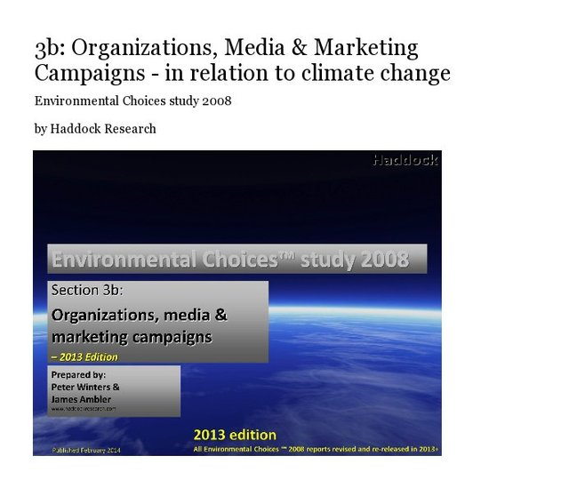 3b: Organizations, Media & Marketing Campaigns - in relation to climate change