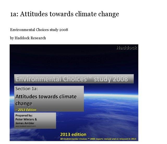 1a: Attitudes towards climate change