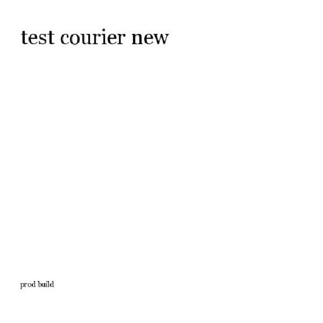 test courier new
