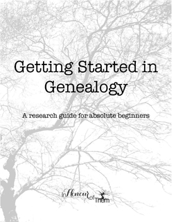 Getting Started In Genealogy book cover