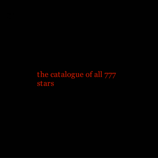 the catalogue of all 777 stars book cover
