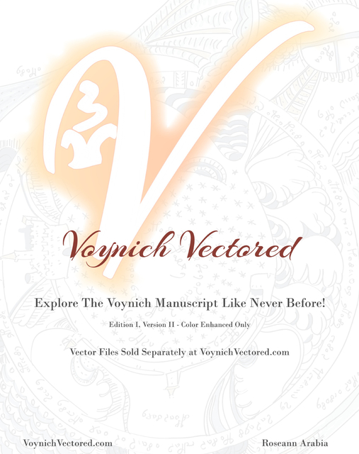 Edition I, Version II - Color Enhanced Only Voynich Vectored