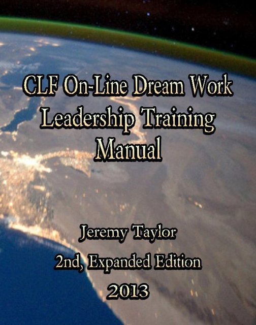 On-Line Dream Work Training Manual II