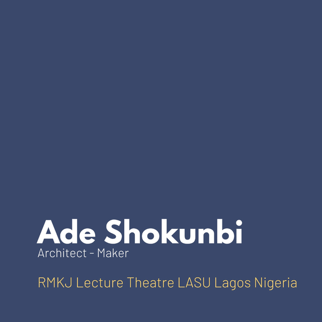 Ade Shokunbi Architect - Maker