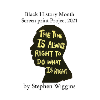 Black History Month  Screenprint Project 2021 book cover