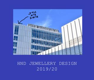 HND JEWELLERY DESIGN 201920 book cover