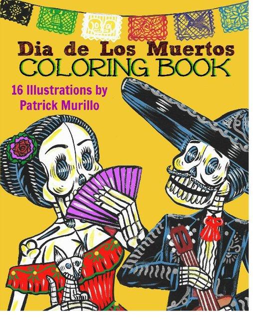 Dia de Los Muertos Coloring Book, Vol 1
