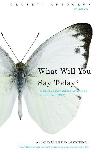 What Will You Say Today?  I publicly proclaim bold promises