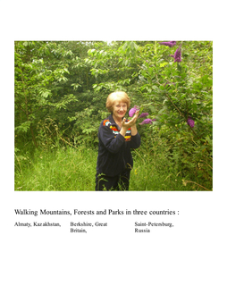 Walking Mountains, Forests and Parks in three countries book cover