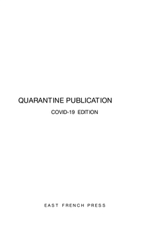 Quarantine Publication book cover