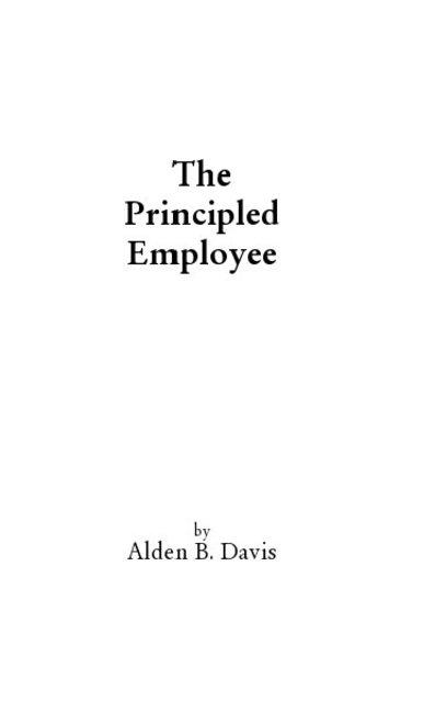 The Principled Employee
