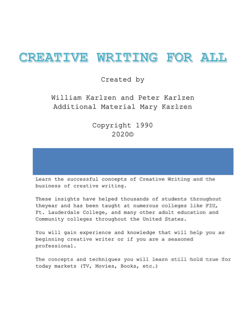 Creative Writing For All