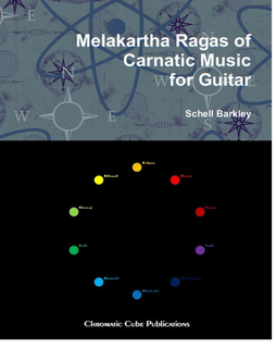 Melakartha Ragas of Carnatic Music for Guitar book cover