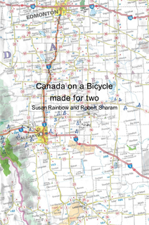 Canada on a Bicycle made for two book cover